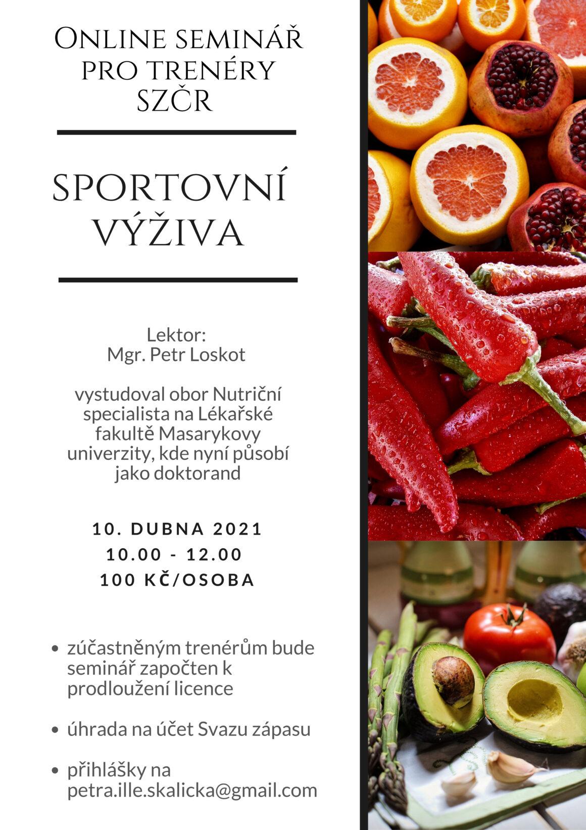 Online seminář: sportovní výživa